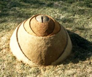 """""""Layers"""".1988. Soil. 70x165x90 cm. Israel"""