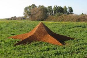 """Star Earth"", 2009. Soil. 800x800x200 cm. The Green gallery, Israel."