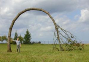 """""""Reminiscence"""".2001. Wood. 500x700x150 cm. Sagadi, Estonia"""