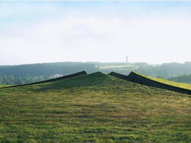 """Ritual Cut"", Latvia, 2009. Earth, grass, 4.5 x 60 x 75 meter."