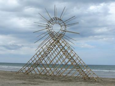 """""""Air Loop"""", The Philippines. 2010. Bamboo, 750 x 1300 x 200 cm."""