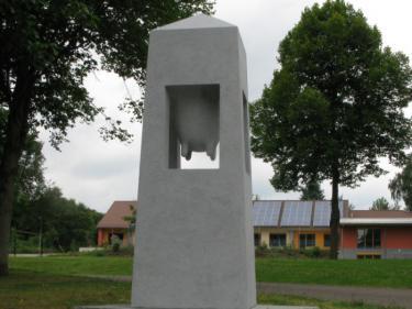 """""""SANCTUARY"""" 2012 Gabbro, 280 x 100 x 100 cm. Steinwenden, Germany."""